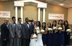 wedding party at kingdom hall