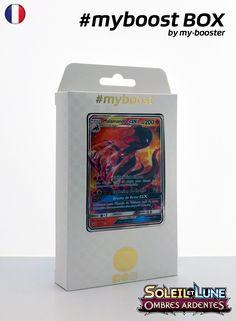 Coffret #myboost MALAMANDRE GX Contient 10 cartes Pokemon francaises Soleil et Lune 3 neuves dont : - la carte MALAMANDRE GX 25/147 200PV de la serie Soleil&Lune 3 - 1 carte Holographique ou Reverse - 1 carte 100PV - 1 carte 90PV - 1 carte 80PV my-booster, l offre POKEMON PREMIUM