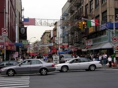 Little Italy -- The intersection of Canal St and Mulberry St