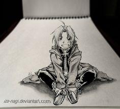 SPECIAL 3D SKETCH ~~ Edward Elric ~~ by *Iza-nagi on deviantART
