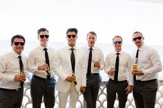 Black and white groomsmen Destination Cabo wedding Cabo Surf Hotel | Floral design Lola del campo Florenta