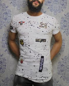 White inked and patched shirt #dope #inked #patches #patched #tshirt #men…