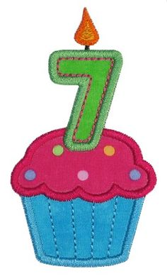 Cupcake applique - perfect for birthday tshirt