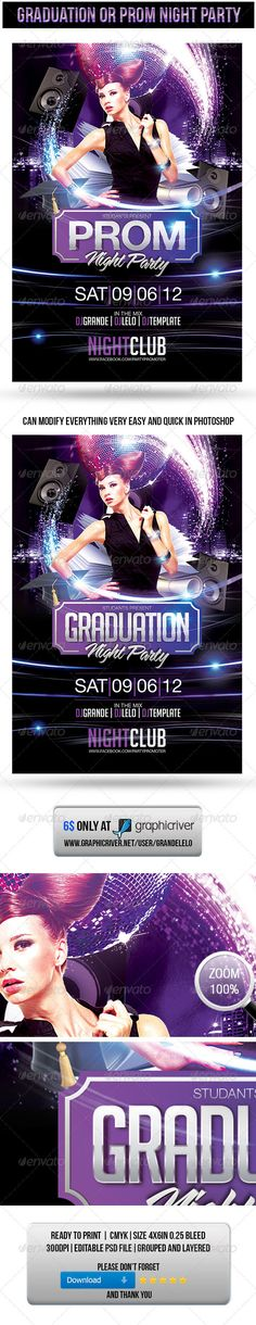 TO DOWNLOAD PSD TEMPLATE CLICK HERE: http://graphicriver.net/item/graduation-or-prom-night-party-flyer/2470529?ref=grandelelo