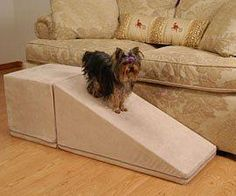 Solvit Wood Bedside Dog Ramp The Solvit wood pet ramp is the perfect solution for pets unable or unwilling to use dog stairs for bed access. It's tough watching your precious pooch age; not able to re