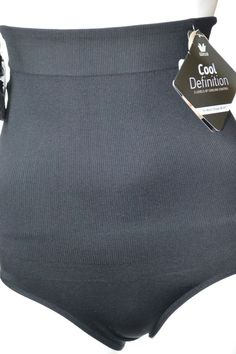 WacoalCool DefinitionHigh-Waisted BriefSize LBlack808260Removable Straps #Wacoal #Briefs