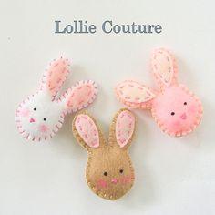 Felt Brooch / Felt Pin / Easter / Felt bunny / by lolliecouture, $16.00