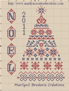 Christmas tree chart from France.