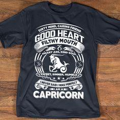 Capricorn T-shirt | Capricorn Shirt for CapricornGirl, Capricorn Shirts Collection, Capricorn Zodiac Sign, Capricorn Horoscope Birthday Gift