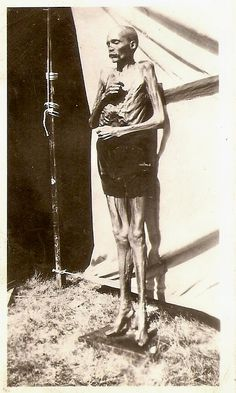 This photo came from the Norman Prather collection. It was sent, along with other pictures by his daughter Norma. It is quite possible that this mummified person is the real thing. Carnival and circus side shows in years past did exhibit animals and humans that were actual mummies. In later years it was outlawed and only a medical institution or museum could place them on exhibition. (Looks like the mummy at the curiosity shop in Seattle, WA)