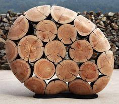 View Between Logs in Jaehyo Lee Sculpture