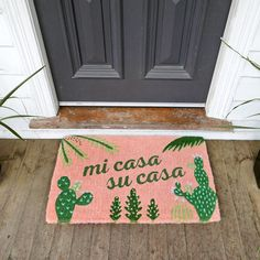 Mi Casa Su Casa Doormat Palm Springs, perfect doormat living in San Antonio Decoration Chic, Sweet Home, First Home, Humble Abode, Palm Springs, My Dream Home, Interior And Exterior, Kitchen Interior, Home Goods