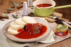 Czech Recipes, Ethnic Recipes, Gravy, Panna Cotta, Food And Drink, Pudding, Cooking, Desserts, Sauces