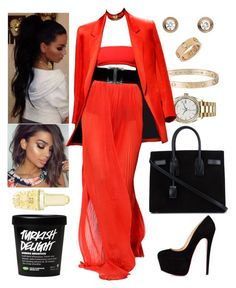"""Summer Time Ball: June 5"" by allison-syko ❤ liked on Polyvore featuring Rolex, Cartier, Christian Louboutin, Yves Saint Laurent and Brilliance New York"