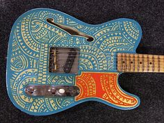 RebelRelic Holy Thinline hand painted by Henk Schiffmacher-RebelRelic Vintage Style Relic Guitars