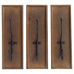 Metal Hooks Decorative Wall Art Set 4.25 X 4.25 X 8.5