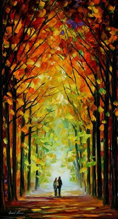 Altar Of Trees — PALETTE KNIFE Oil Painting On Canvas By Leonid Afremov, $239.00