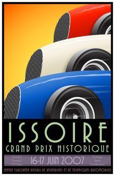 art nouveau voertuigen poster - Google zoeken