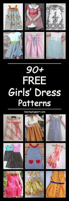 Little Girl Dress Patterns, Simple Dress Pattern, Baby Girl Dress Patterns, Children's Dress Patterns, Child Dress Pattern Free, Free Pattern, Easy Girls Dress, Dress For Girl Child, Toddler Girl Dresses