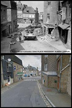 Saint - Sever  Calvados  Place President Albert Lebrun  #NORMANDIA1944