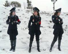 Sexy nazi women uniforms afraid