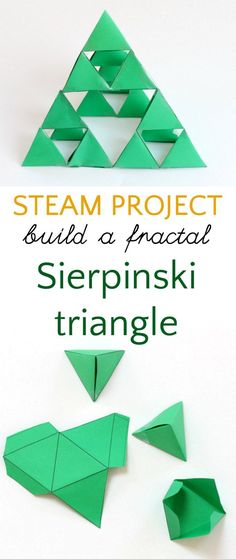 Build a fractal for STEAM. This also makes a fun Christmas tree math art project.