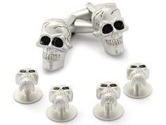 Skull Formal Set Cufflinks & Studs Cuff-Daddy. $39.99