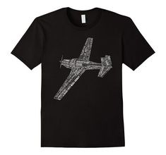Amazon.com: M20 Typography Airplane Aviation Pilot T-Shirt: Clothing