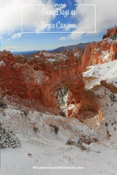 Bryce Canyon National Park. Visiting Bryce Canyon National Park in Utah  (USA). If you have the opportunity to visit Bryce Canyon National Park  in the winter when it has snow you will be in for spectacular views.