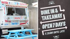 We check out an inner-city dining destination committed to a healthy fast food experience. Fast Healthy Meals, Food Truck, Restaurants, Garage, Trucks, Carport Garage, Quick Healthy Meals, Truck, Restaurant