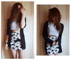Forever 21 Skirt, Bershka Crop Top