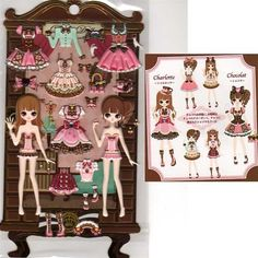 Q-Lia Dolly Dolly Colorforms Stickers with Jewels: Chocolat & Charlotte