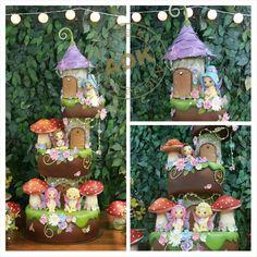 Fairy cake  - Bolo fadas - floresta encantada.