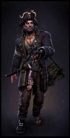 Pirate Art Gallery | stylised pirate stylized pirate character real time renders from the ...