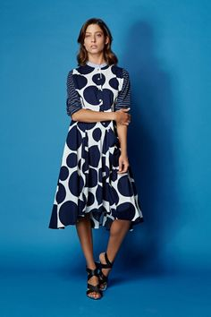 1c1fbd81d1ad6 Stand out from the crowd in this fabulous circle print dress from Alembika.  The dress