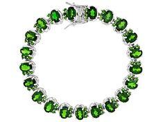 925 Silver Single line Chrome Diopside Gemstone Hoop Earrings Chrome Gemstone Hoop Earrings Gold Plated Silver Hoop Earrings