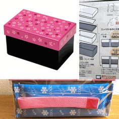 2 Tier Bento Box  Hakoya Pink Cherry Blossoms Sakura Cool Pack Incl. This is the one!