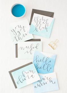 10 DIY Calligraphy Projects to Get Your Hobby Started via Brit + Co.