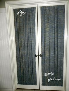 DIY French Door Curtains for french door-possibility...maybe in while linen?