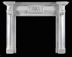 George III Ionic column marble fire surround