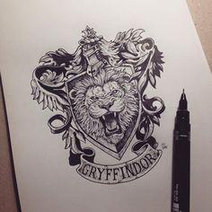 Illustration | Gryffindor by kerbyrosanes