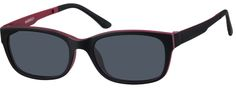 Square Eyeglasses with Magnetic Snap-On Shades