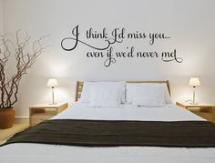 I Think Iu0027d Miss You Wall Decal