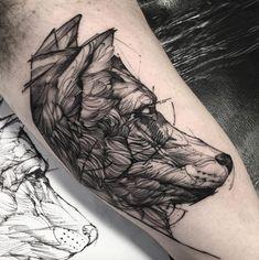 Wolf Tattoo by Freda Oliveira - TATTOOBLEND