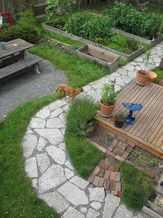 Urbanite garden path