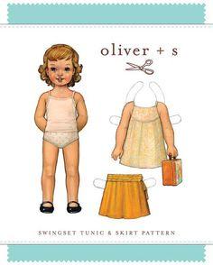 Swingset Tunic + Skirt - PDF Pattern - Oliver+S - $13.95 : Whimsical Designs