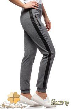 Sportowe legginsy ze skórzanym lampasem.   #cudmoda #moda #ubrania #spodnie #odzież #fitness #women #jogging #hosen #pants #clothes #fashion #glamour