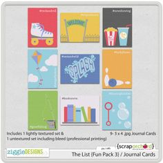 The List {Fun Pack 3} / Journal Cards