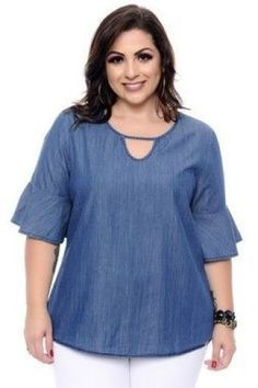 Buy plus size women's tops from Fashionmia. We have women's plus size fashion tops of many trendy styles and colors with cheap price. Plus Size Tips, Looks Plus Size, Plus Size Jeans, Plus Size Model, Plus Size Blouses, Plus Size Dresses, Plus Size Outfits, Plus Size Casual, Dresses Uk