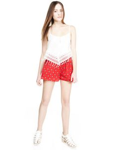 Bershka México -Falda pantalón BSK estampada